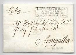 GOVERNO PONTIFICIO - DA SENIGALLIA PER CITTA' - 4.7.1819. - ...-1850 Préphilatélie
