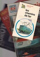 LES CHEMINS DE FER , Les Trains ,  Au Temps Des Premiers Ch D Fer , Magazine Eurotunnel  Frais Envoi Belgique 6.90 - Chemin De Fer & Tramway