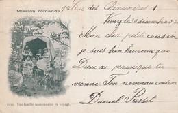 Rare Cpa Mission Romande Une Famille Missionnaire En Voyage Dans Chariot - Andere