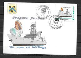 Frégate FORBIN - Un Nom En Héritage - PHILATELIE TOULON LIBERTE 04/03/14 Sur Montimbramoi - Naval Post