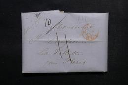 ETATS UNIS - Lettre De New York Pour Paris En 1846 - L 52899 - …-1845 Vorphilatelie