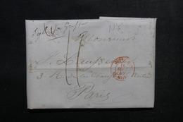 ETATS UNIS - Lettre De New York Pour Paris En 1845 - L 52900 - …-1845 Vorphilatelie