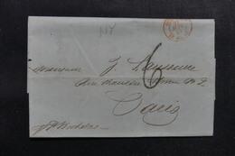 ETATS UNIS - Lettre De New York Pour Paris En 1843 - L 52901 - …-1845 Vorphilatelie