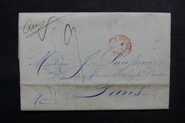 ETATS UNIS - Lettre De New York Pour Paris En 1845 - L 52902 - …-1845 Vorphilatelie