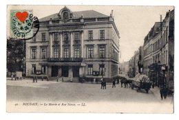 40421-ZE-59-ROUBAIX-La Mairie Et Rue Neuve------------------animé-attelage-commerces - Roubaix