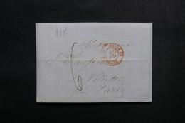 ETATS UNIS - Lettre De New York Pour Paris  - L 52903 - …-1845 Vorphilatelie