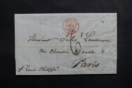 ETATS UNIS - Lettre De New York Pour Paris En 1843  - L 52904 - …-1845 Vorphilatelie