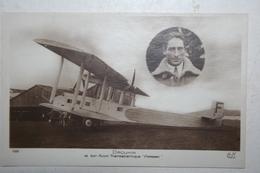 Carte Photo - Drouhin Et Son Avion Transatlanique  - Farman - 1919-1938: Entre Guerres
