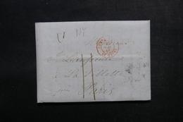 ETATS UNIS - Lettre De New York Pour Paris En 1846  - L 52905 - …-1845 Vorphilatelie