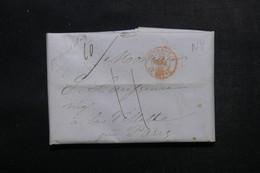 ETATS UNIS - Lettre De New York Pour Paris En 1848 - L 52909 - …-1845 Vorphilatelie