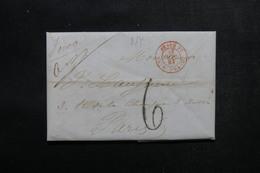 ETATS UNIS - Lettre De New York Pour Paris En 1845 - L 52910 - …-1845 Vorphilatelie