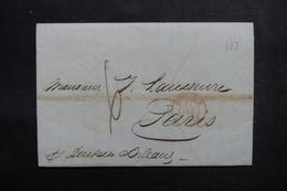 ETATS UNIS - Lettre De New York Pour Paris En 1843 - L 52911 - …-1845 Vorphilatelie