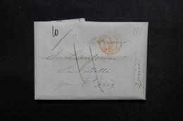 ETATS UNIS - Lettre De New York Pour Paris En 1846 - L 52912 - …-1845 Vorphilatelie