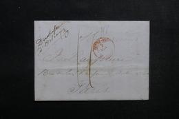 ETATS UNIS - Lettre De New York Pour Paris - L 52913 - …-1845 Vorphilatelie