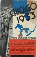 Usa 20 - Chicago 1933 - Esposizione Mondiale Del Centenario - Viaggi Circolari In America - Esposizioni