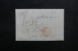 ETATS UNIS - Lettre De New York Pour Paris En 1846 - L 52914 - …-1845 Vorphilatelie