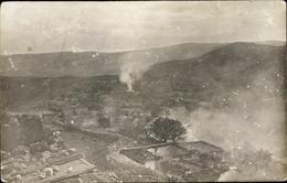 Photo Cp Rachaya Libanon, Brennende Ortschaft, Kriegszerstörungen - India