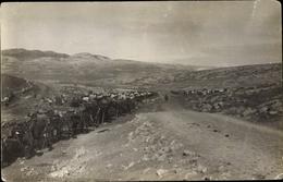 Photo Cp Rachaya Libanon, Militärkonvoi, Panorama - India