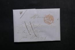 ETATS UNIS - Lettre De New York Pour Paris En 1846 - L 52916 - …-1845 Vorphilatelie