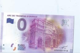 2016 BILLET TOURISTIQUE 0 Euro  Arc De Triomphe D'orange   Dpt 84  Port 1.30 - Essais Privés / Non-officiels