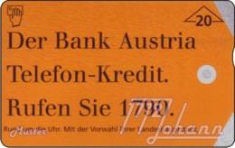 AUSTRIA Private: *Bank Austria - Telefonkredit* - SAMPLE [ANK F436] - Oesterreich