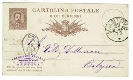 Ref 1336 - 1884 Italy Postal Stationery Card - Prato In Toscana To Verona - Nice Marks - 1878-00 Umberto I