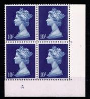 Ref 1336 - GB 1969 High Value Machin 10/= Blue MNH SG 789 - Cylinder Block 1A - 1952-.... (Elizabeth II)