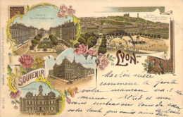 69 RHONE Souvenir De LYON Type Litho Kunzli Gruss Aus Circulé 1899 - Unclassified