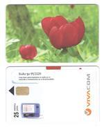 BULGARIA - Vivacom - Flower 25 Units - Sticker - Bulgaria