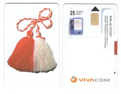 BULGARIA - Vivacom - Martenitza 25 Units - Sticker - Bulgaria