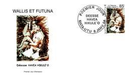 FDC Wallis Et Futuna De 2004 - Personnage Divin. La Déesse Havea Hikule'o. Déesse Dans Un Bénitier Tenant Un Coquillage - FDC