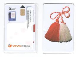 BULGARIA - Vivacom - Martenitza 25 Units - Sticker MINT - Bulgaria