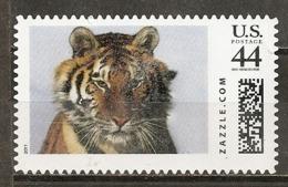 Etats-Unis USA Labels Zazzle 2011 Tiger Obl - Frankeervignetten
