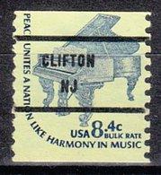USA Precancel Vorausentwertung Preo, Bureau New Jersey, Clifton 1615C-81 - Vereinigte Staaten