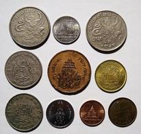 THAILANDE LOT DE 10 PIECES. THAILAND COINS. - Tailandia