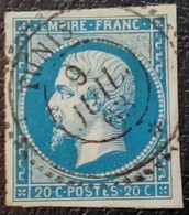 652  - 14 B - Cachet Perlé Tunis - 1853-1860 Napoleone III