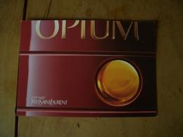 Carte YSL Opium A/film - Modernes (à Partir De 1961)