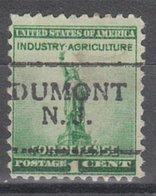 USA Precancel Vorausentwertung Preo, Locals New Jersey, Dumont 701 - Vereinigte Staaten
