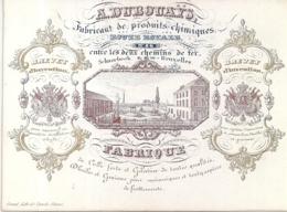 """SCHAARBEEK-BRUXELLES""""A.DUBOUAYS-FABRICANT PRODUITS CHIMIQUES""""LTH.VANDE STEENE-140/105MM - Cartes Porcelaine"""