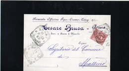 CG10 - Italia - Cartolina Postale Da Arona 12/2/1901 Per Massino - Italia