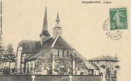 CARTE POSTALE ORIGINALE ANCIENNE : PUELLEMONTIER L'EGLISE HAUTE MARNE (52) - France