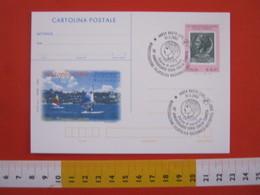 A.14 ITALIA ANNULLO 2003 VASTO CHIETI PHIL NAZIONALE 50 ANNI TURRITA MARE TURISMO WINDSURF VELA SPORT POST CARD FDC - Esposizioni Filateliche