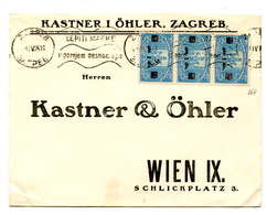 Kastner I öhler Company Letter Cover Posted 1924 Zagreb To Wien B200210 - Croatie