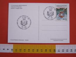 A.14 ITALIA ANNULLO 2003 VARALLO VERCELLI VALSESIA 10 ANNI CLUB ANNI ARGENTO ANZIANI STEMMA ARALDICO COMUNE CANE DOG - Cani