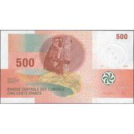 TWN - COMOROS 15b - 500 Francs 2006 Prefix J UNC - Comores