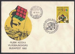 IZ186   Hungary FDC  Rubik Cube World Championship - Rubik Cube Championnat Du Monde - Giochi