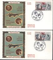Lot 2 Enveloppes Premier Jour D'émission FDC First Day Cover YT Poste Aérienne 48 Codos 02 Iviers Et Guillaumet 51 Bouy - 1970-1979
