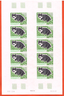 TERRES AUSTRALES N°186 CHAT FEUILLE NON DENTELEE - Imperforates, Proofs & Errors