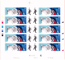TERRES AUSTRALES PA N°136 PHOQUES FEUILLE NON DENTELEE - Imperforates, Proofs & Errors