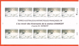 TERRES AUSTRALES PA N°135 STATION CHARCOT FEUILLE NON DENTELEE - Imperforates, Proofs & Errors